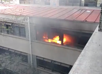 Incendio afectó a oficinas del Instituto Nacional en medio de nuevos incidentes